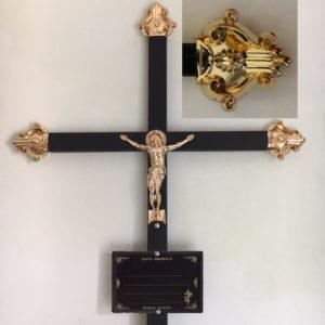 Крест металлический с табличкой
